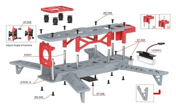 kit frame chasis fpv drones de carreras barato online españa barcelona rctecnic