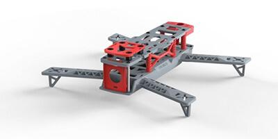chasis para drone fpv kingkong 260